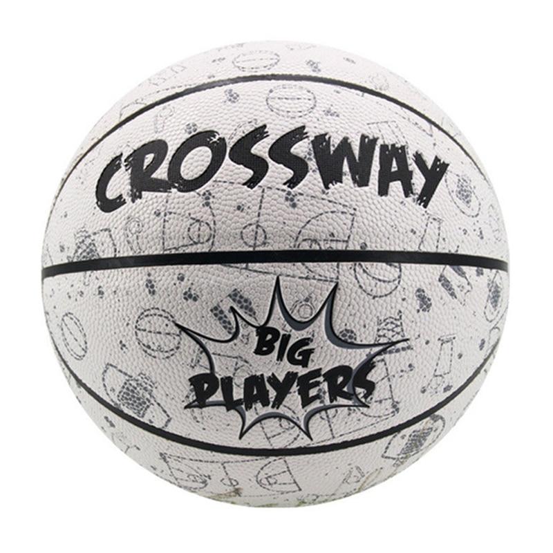 CROSSWAY Street Basketball Adult Match Basket Ball Size5/7 PU Standard Basketbol For Girls With Pump Net Bag Outdoor Sport Gift