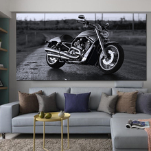 RELIABLI арт мотоцикл картины черный и белый Прохладный мотоцикл дорожная живопись современный пейзаж стены искусства гостиной без рамы