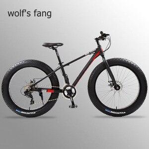 Image 1 - Wolfun fang bisiklet tam dağ bisikleti yağ bisiklet yol bisikleti alüminyum bisiklet 26 kar yağ lastiği 24 hız mtb kar bisikletler plaj