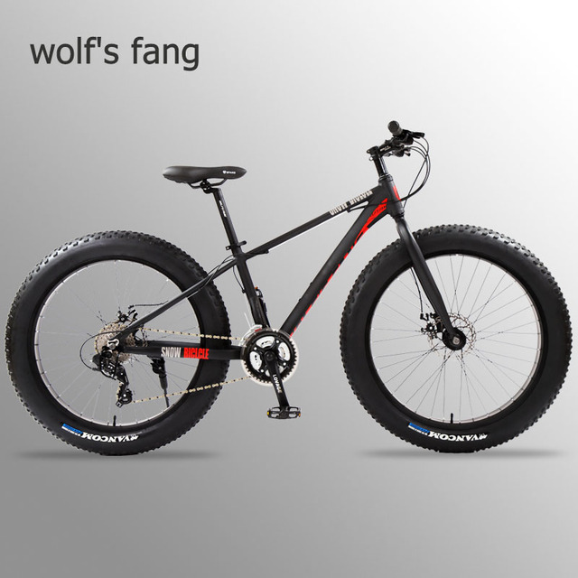 Wolfun fang bisiklet tam dağ bisikleti yağ bisiklet yol bisikleti alüminyum bisiklet 26 kar yağ lastiği 24 hız mtb kar bisikletler plaj