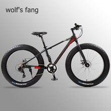 Wolf's fang bicicleta de alumínio, bicicleta de montanha, bicicleta gorda, pneu de 24 velocidades, mtb bicicletas de neve praia