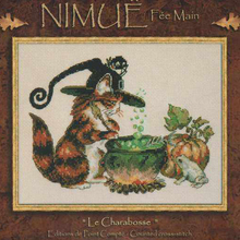 Cross-Stitch-Kit Nimue Gold-Collection Cat Counted Kitten Wizard Nium Charabosse Lovely