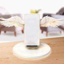 Angel Wings Wireless Charger Night Light Mobile Phone For Samsung iPhone Huawei Xiaomi Airpods All Smart
