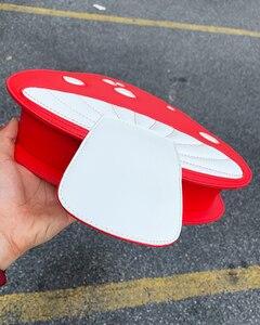 Image 5 - น่ารักเห็ดสีแดงPuหนังแฟชั่นผู้หญิงกระเป๋าถือไหล่Crossbodyกระเป๋าผู้หญิงคลัทช์กระเป๋าToteกระเป๋า