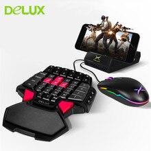 Deluxe T9 bir el oyun klavyesi kablolu oyun bilgisayar tuş takımı M625 A3050 RGB aydınlatmalı kablolu oyun fare 4000 DPI overwatch