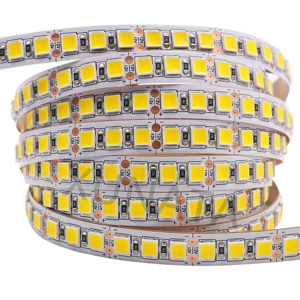 Светодиодная лента 12 в 24 В гибкая светодиодная лампа лента SMD 5054 2835 Светодиодный светильник в полоску Водонепроницаемый 5 м 5050 4040 ленточный д...
