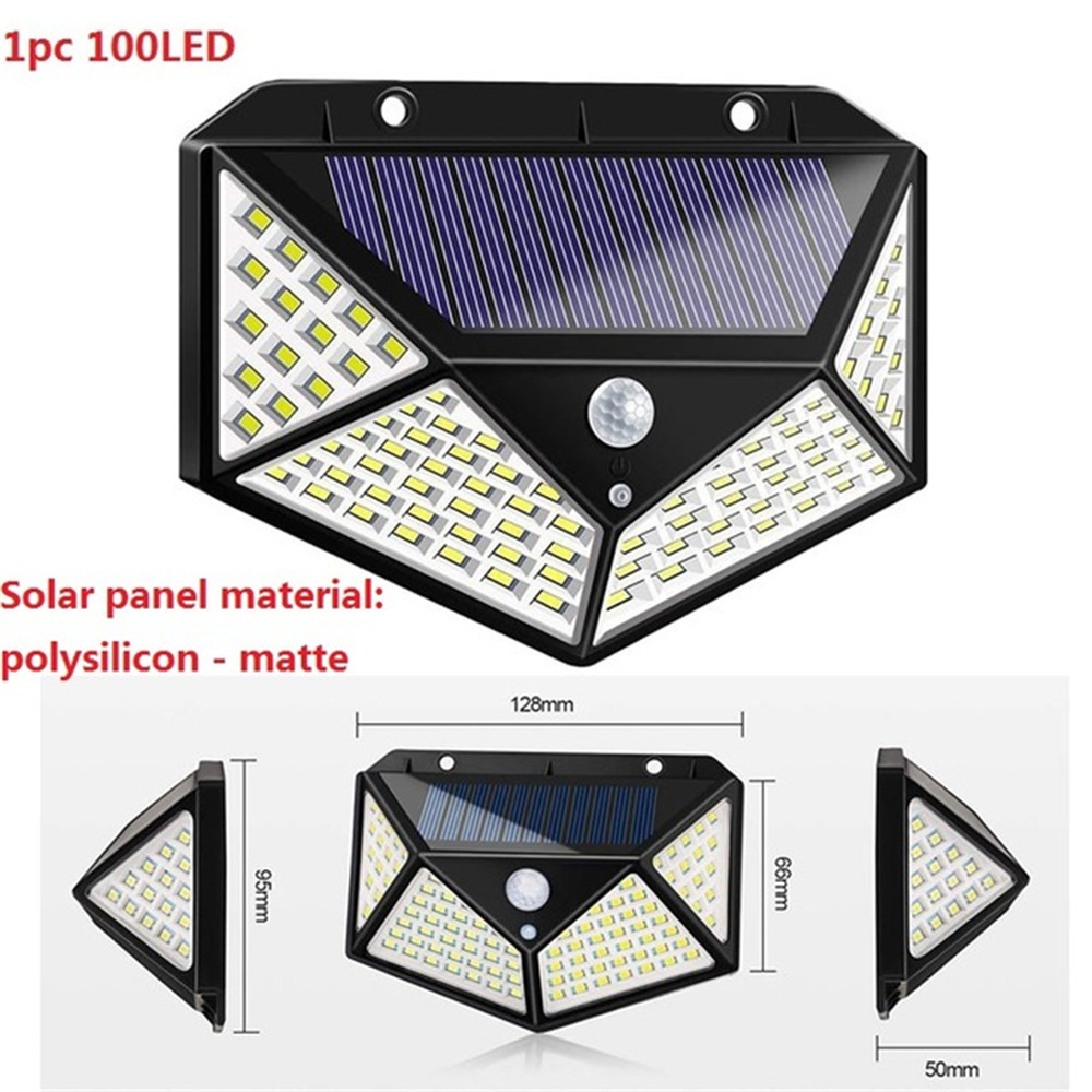1-4pcs Four-Sided Lighting Scope Solar Lamp PIR Motion Sensor IP65 Waterproof Solar Garden Lights Outdoor Wall Security Light