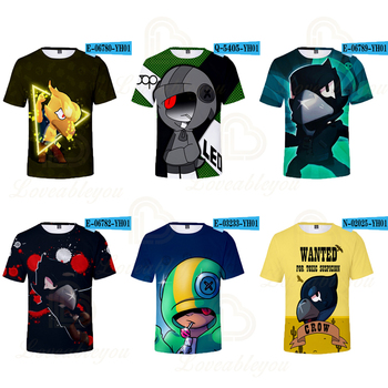 цена на Shooting Game Game T-shirt 3D Printed  Boy Girl Funny T-shirts Costume Children Clothing Kids Tees Baby 6 7-8 9-11 12 Year