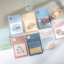 Journamm 30pcs Morandi Illustration Memo Pads Stationery Loose Leaf Notepad Diary Creative Deco Office School Supplies Memo Pads