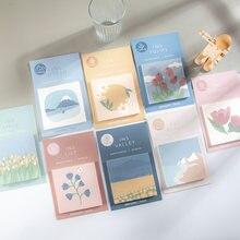 Journamm 30 sztuk Morandi ilustracja notatniki biurowe luźny liść notatnik pamiętnik kreatywny Deco biuro szkolne notatniki