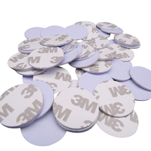 (100PCS/LOT) TK4100(EM4100)New Dellon RFID 125khz 3M Stickers Coins 25mm Smart Tags Read only Access Control Cards