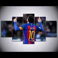 5 piece Fc Barcelona Messi canvas printed painting for living picture wall art HD print decor modern artworks football poster
