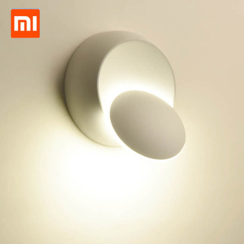 Xiaomi Mijia 6W wall led light decoration bed side lamp for bedroom loft sconce light adjustable 360 rotatable modern smart home
