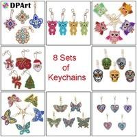 Diamond Painting DIY Diamond Keychain Special Shaped Full Diamond Painting Keyring Keychains Jewelry Keyring Women Bag Key Chain