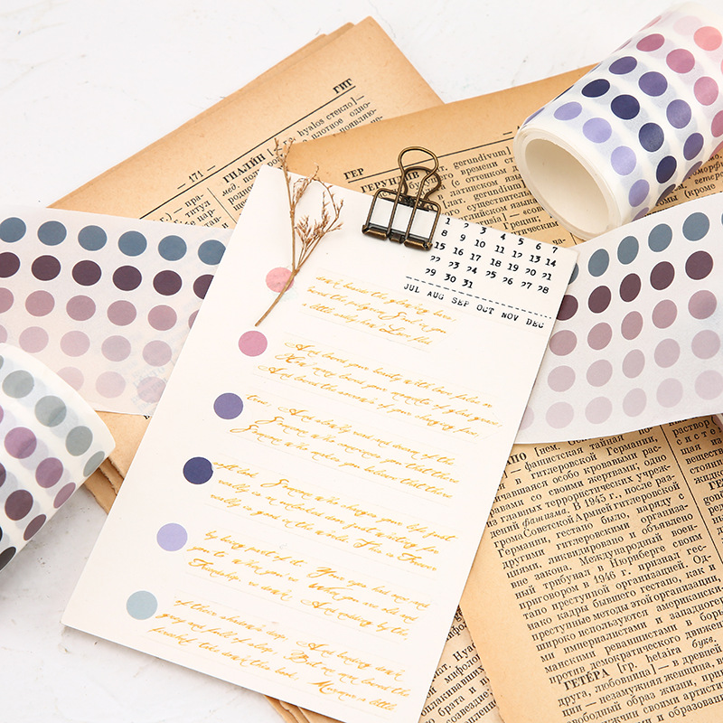 My Cute Dots Lovely Colorful Dotted Washi Tape 60mm*3M DIY Scrapbooking Journal Diary Decoration Supplies