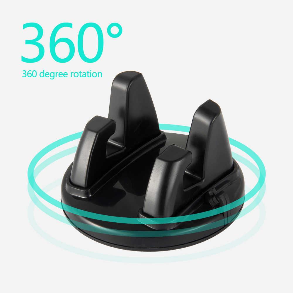 Aksesoris Mobil Interior Pemegang Telepon Ornamen 360 Rotasi PC + Silikon Tahan Aus Dekorasi Dashboard Universal untuk GPS