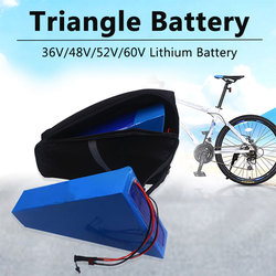 Triangle battery 48V 18Ah 25Ah 40Ah lithium ion battery pack with BMS for Mountain electric bicycle,snowbike+5A charger