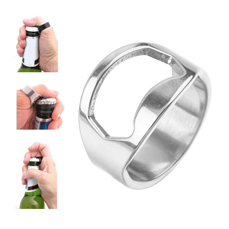 1PCS 22mm Multi-function Stainless Steel Colorful Ring-Shape Opener Beer Bottle Opener Kitchen Tools