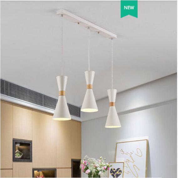 Restaurant chandelier modern minimalist macaron lamp Nordic creative personality bar chandelier table dining room lamp