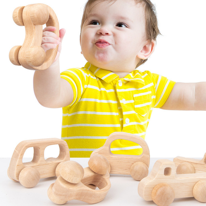 Baby Wooden Mini Stroller Toy Infant Training Grasping Ability Toy Montessori Nursing Toys Vehicles Baby Toys Child