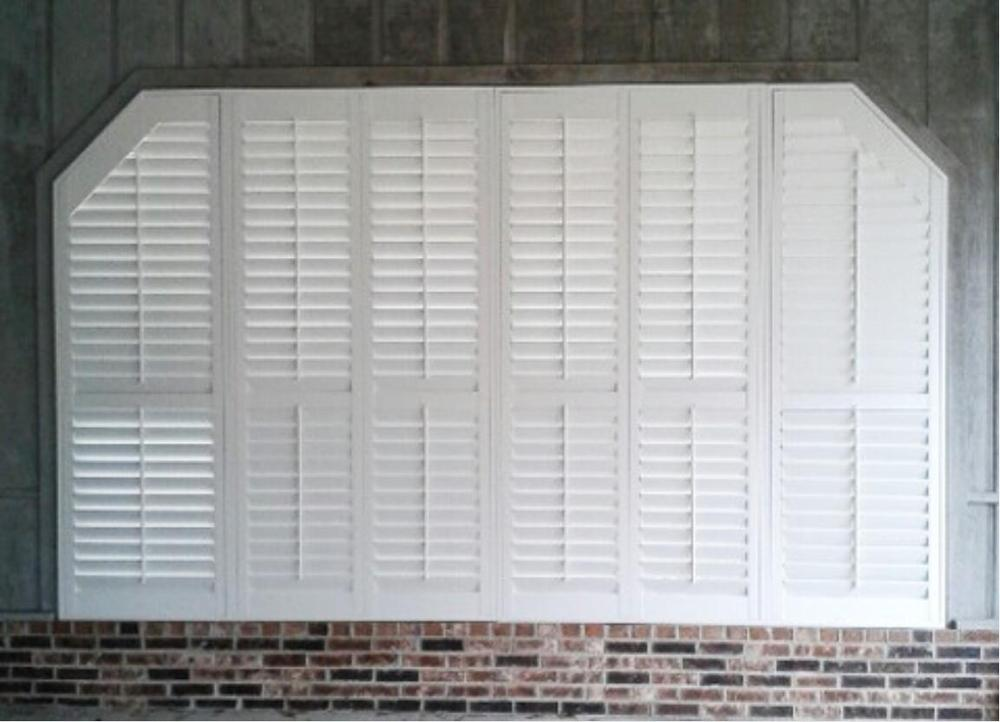 Custom Basswood Plantation Shutters  Wooden Blinds Solid Wood Shutter Louver PS217