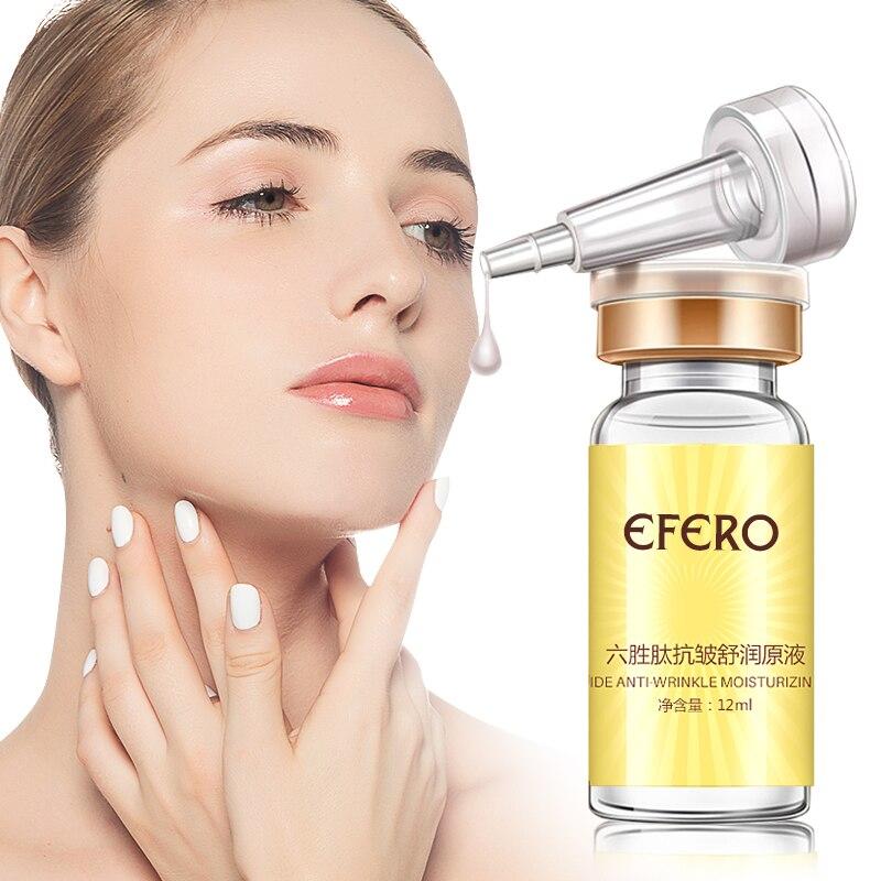 Efero Seis Peptídeos Argireline AntiAging Soro Ácido Hialurônico Hidratante Branqueamento Creme AntiWrinkle Rosto Creme de Tratamento Da Acne