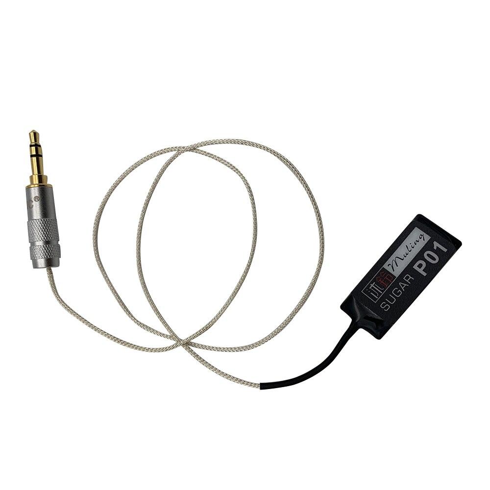 Installation facile de prise du transducteur 3.5mm de ramassage de correction de guitare pour le ukulélé de guitares acoustiques folkloriques