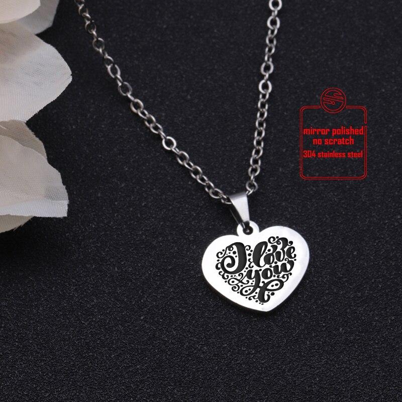 Herzen Kette Damen Schmuck Liebe Edelstahl Halskette Geschenk Hearts Necklace