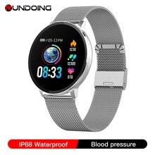 RUNDOING NY03 Smart Uhr IP68 wasserdicht Heart rate monitor Smartwatch Nachricht erinnerung Fitness tracker Für Android und IOS