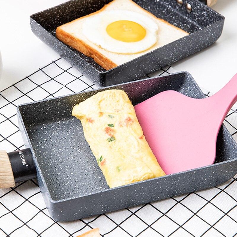 Сковорода тамагояки омлет черная сковорода с антипригарным покрытием Сковорода для яиц блинная кухонная кастрюля для газовой плиты