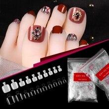 500pcs False Foot Nails Full Cover Fake Toe nail Tips Set Natural/transparent Acrylic Nail Manicure Accessories