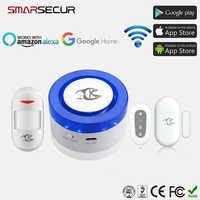 Système d'alarme Wifi pour la sécurité à domicile système d'alarme anti-intrusion infrarouge intelligent Tuya 2.4Ghz alarme pour le soutien du Garage Amazon Alexa