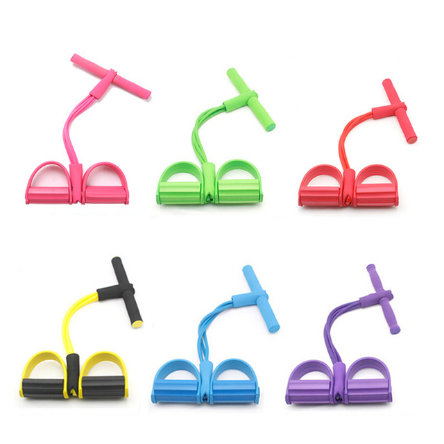 Resistance Bands Weight Loss fitness Equipment 4 tube Tension Trainer Sports Foot Expander Chest Pull Leg