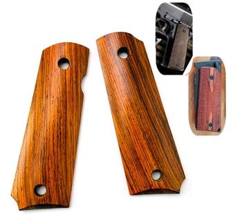 1 пара натуральных Кокоболо деревянных нескользящих пластырей DIY метарные ручные весы для 1911 моделей ручек