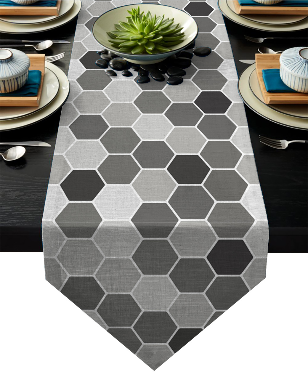 Grey Honeycomb Wedding Party Table Runner Coffee Table Decoration Home Garden Table Cloth Table Runners Aliexpress