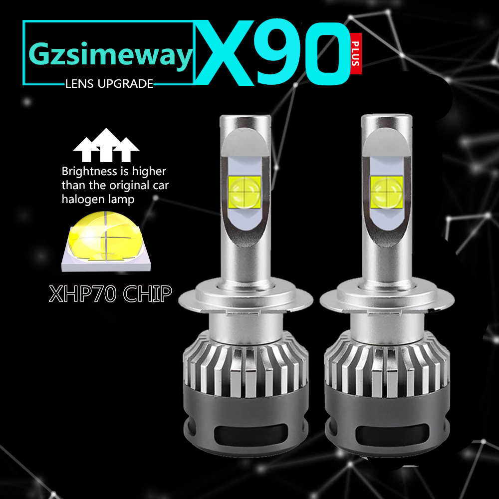 2PCS Car led H1 H4 H7 H8 H11 HB3 9006 9012 H16 Headlight Bulbs D2S D2H D1S Headlights XHP70 110W 6000k Led Lamp fog light 12-24V