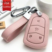 New Leather Car Key Full Cover Case Protection For Cadillac ATS ATS L XLS XTS XT4 XT5 XT6 CT6 CTS CTS V SRX 28T Auto Accessories