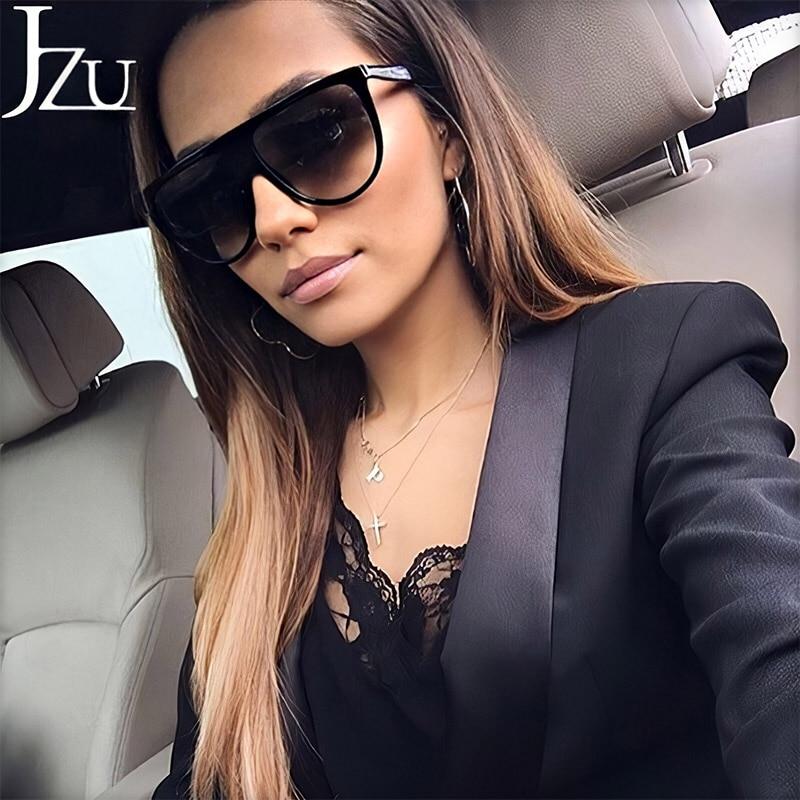金 Kardashian サングラス女性ヴィンテージレトロなフラットトップ影特大の正方形のサングラス高級ブランド大シェードサングラス