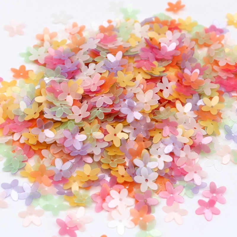 เลื่อม Matte สีขาว10มม.ถ้วยห้านิ้วมือดอกไม้เลื่อม Paillettes เย็บหัตถกรรมงานแต่งงานผู้หญิงเสื้อผ้าอุปกรณ์เสริม10กรัม/ล็อต