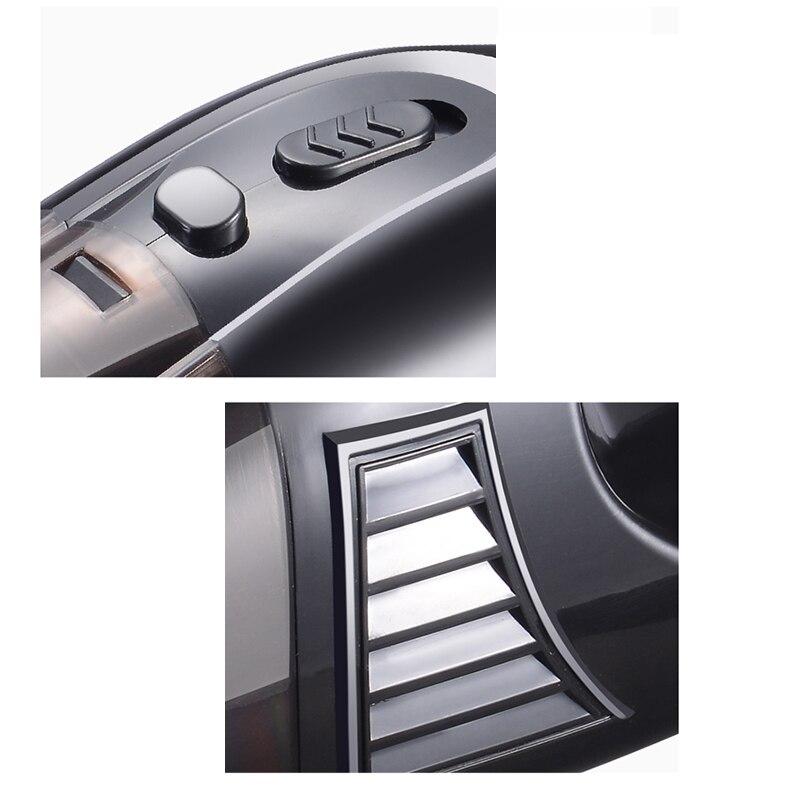 Черный ручной пылесос сухой и влажный Портативный Легкий ручной пылесос для домашних животных и уборки автомобиля-US PL