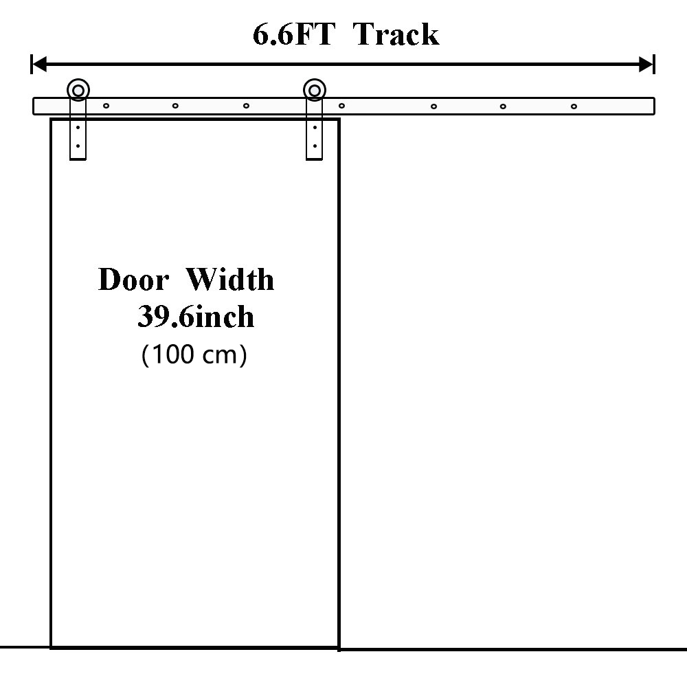 Купить с кэшбэком Sliding Barn Door Hardware Track Set Sliding Door Kit Closet Set Hanger 6/6.6FT