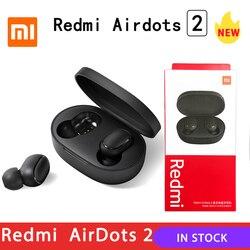 2020 Xiaomi Redmi Airdots 2 TWS Earphone Wireless bluetooth 5.0 Earphone Stereo Noise Reduction Mic Voice Control