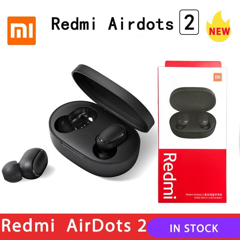 2020 Xiaomi Redmi Airdots 2 TWS Kopfhörer Drahtlose bluetooth 5,0 Kopfhörer Stereo Noise Reduction Mic Voice Control|Handy-Ohrhörer und Kopfhörer Bluetooth|   -