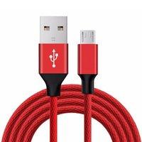 Flexible Micro USB Ladegerät Kabel Nylon Geflochtene Kabel Lade Daten Transfer Übertragung Sync Kabel Geeignet für Android