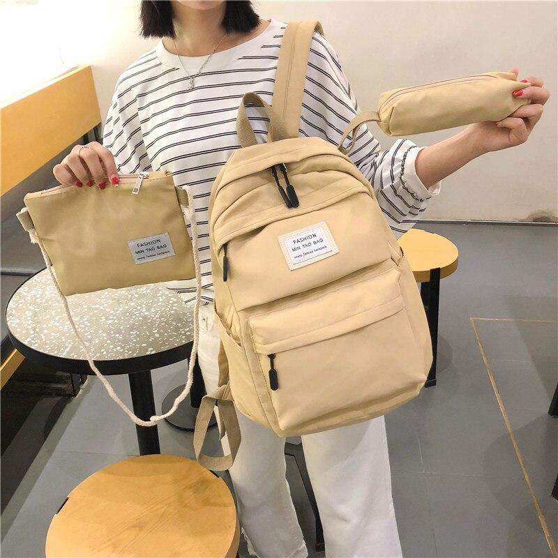 Bagpack Women Backpacks School Bag 3 Sets Travel Backpack Female School Bags For Teenage Girls Backpack Schoolbag Women Notebook