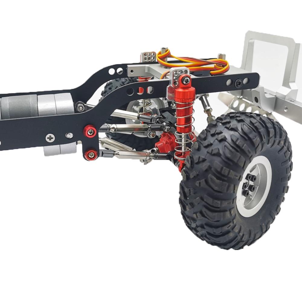 Blue 4Pack ShareGoo Metal Shock Absorber Kit Damper Suspension Upgrade Part for WPL 1//16 C14 C24 RC Crawler Off-Road Car Truck