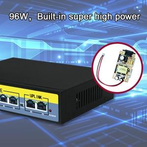 Image 2 - 6 Port Ethernet Switch 48V 96W Mit 4 Port POE + 2 UPlinks 100 Mbps Schalter interne Backplane Bandbreite 1,2G Full duplex