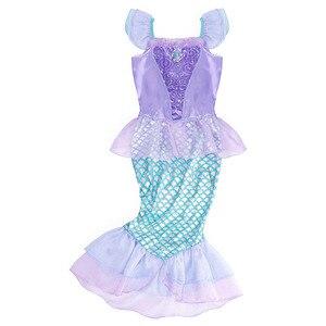 Image 3 - AmzBarley リトルマーメイドの衣装プリンセスアリエルドレスアップ女の子誕生日コスプレパーティー衣装子供ハロウィンの服クラウン