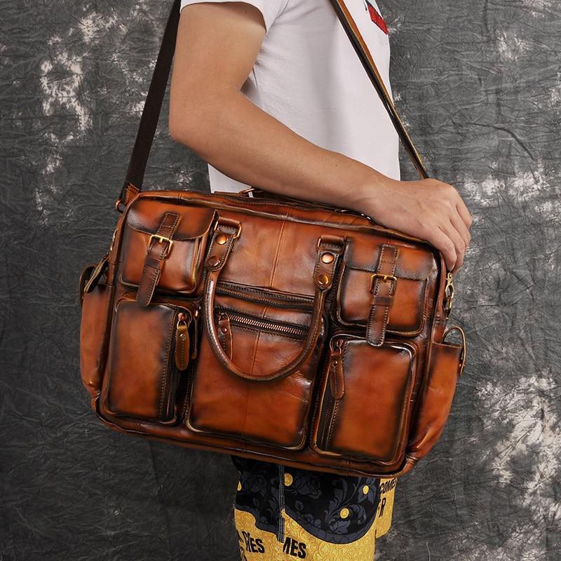 H8f715f1b636b4b238d7ed5925d58823eP Original leather Men Fashion Handbag Business Briefcase Commercia Document Laptop Case Design Male Attache Portfolio Bag 3061-bu
