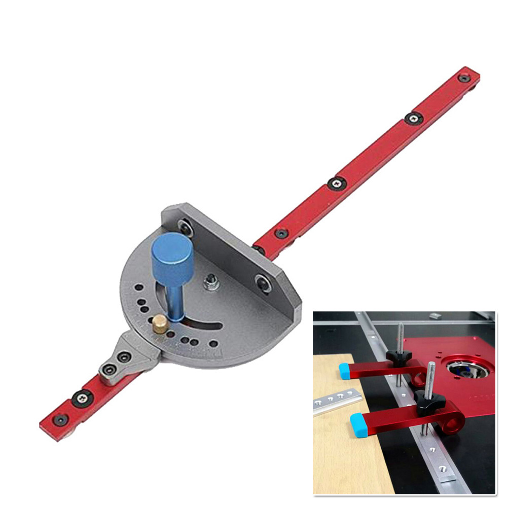Aluminum Metal Miter Gauge Table Saw Router Sawing Assy Ruler Household Tool New